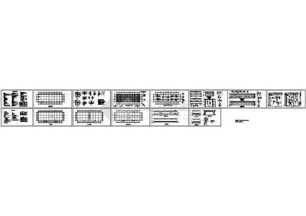 单层896平米排架结构厂房建筑施工结构图【建筑平立剖 结构图 目录 说明】-图一