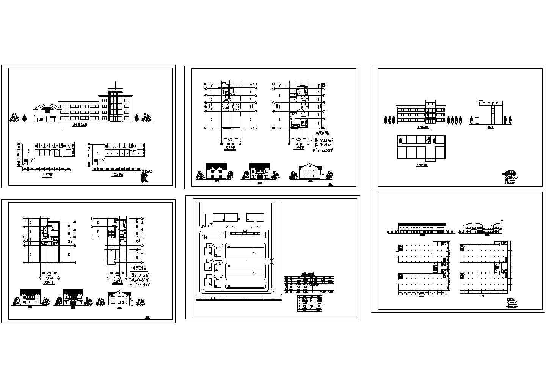 某工厂初步设计cad建筑方案图(含综合楼、车间、科研所、别墅设计)图片1