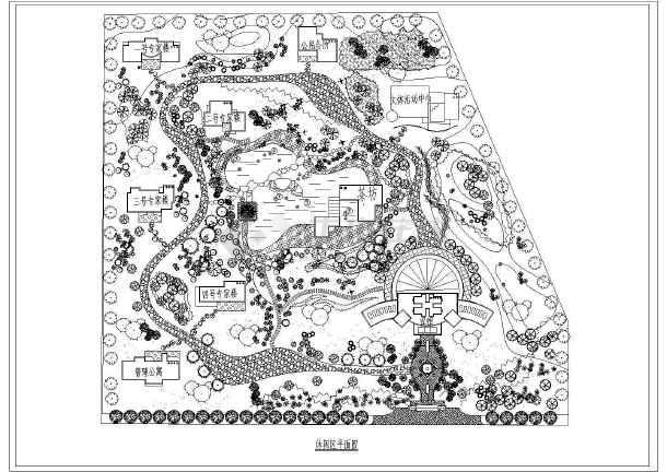 某休闲区园林规划平面设计cad,共1张-图一