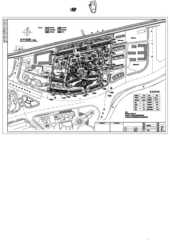 总用地78004平米高层小区总平面图图片1