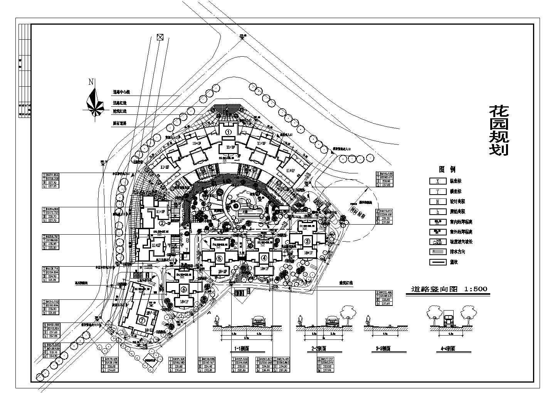 某花园小区总平面设计图图片1