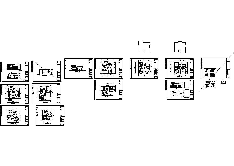 比较实用的别墅cad户型图纸(共15张)图片1