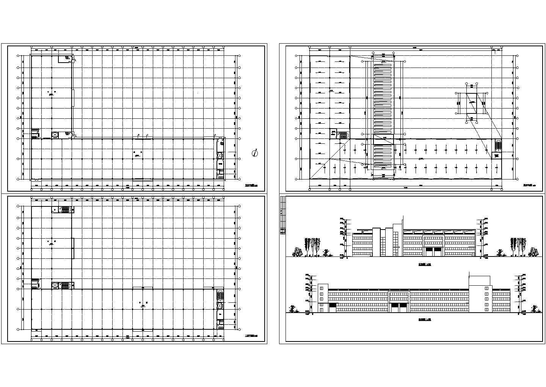 某厂房设计cad建筑方案图(含效果图)图片1