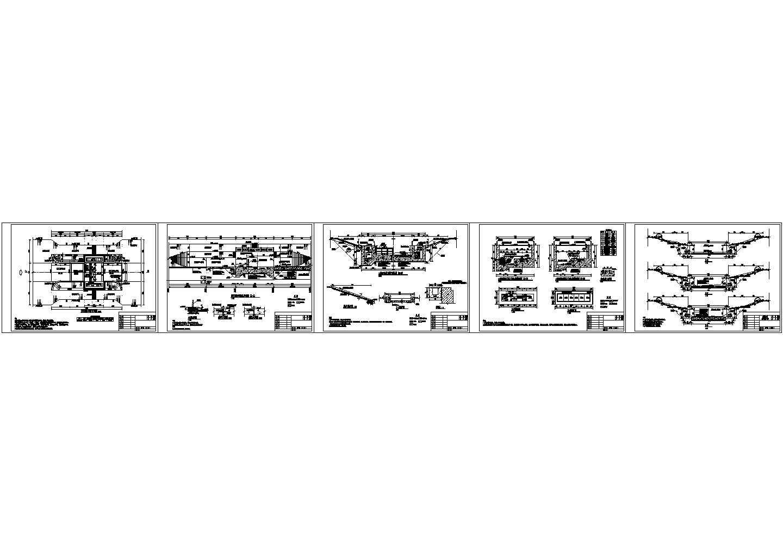 某内河治理工程钢坝闸设计图图片1