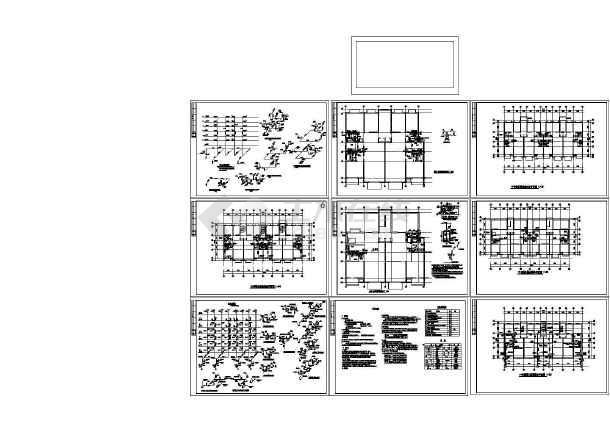 -1+6层1梯2户2单元住宅楼给排水设计图( 长33.6米 宽15.6米 )-图一