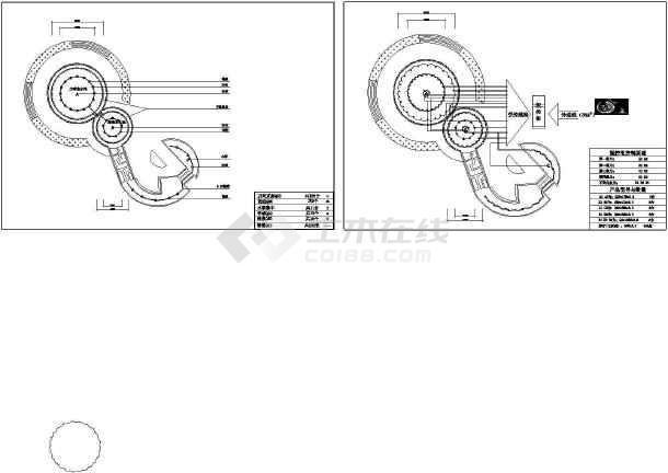 某园林景观广场程控喷泉设计cad施工图纸(大院设计)-图一