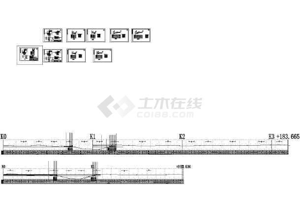 钢筋混凝土道路挡土墙结构施工CAD图-图一