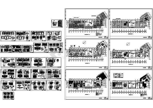 经典中式餐厅室内装修设计施工图-图一