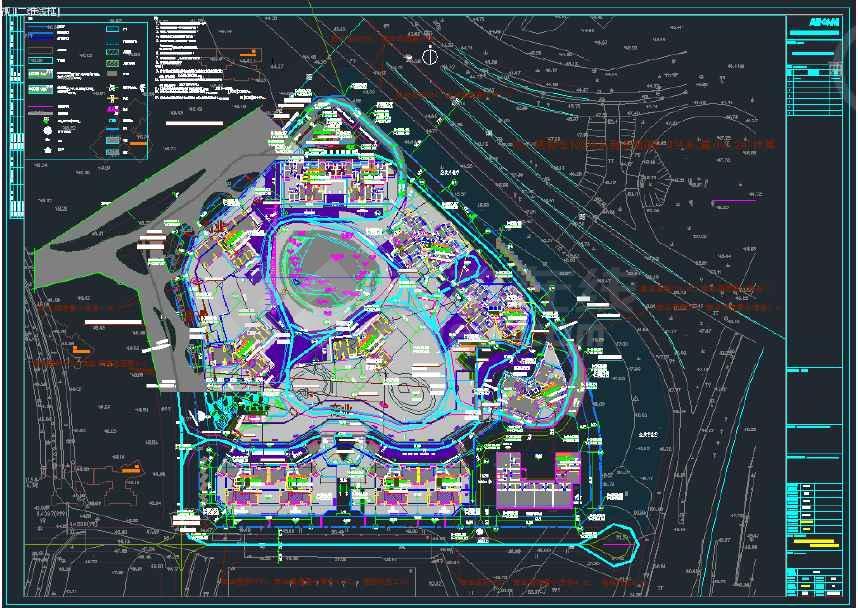 颐安都会中央花园高层住宅商业综合体小区项目全套图纸(含建筑、结构、给排水、电气、暖通)-图一