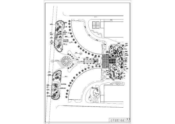 中山某公园CAD园林施工套图(标注比较详细)-图一