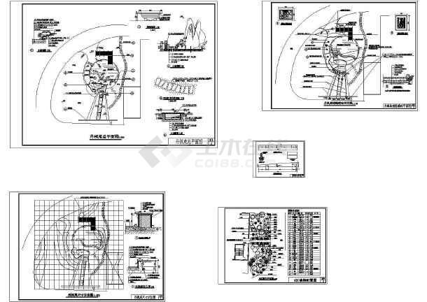 中山某公园CAD园林施工套图(标注比较详细)-图二
