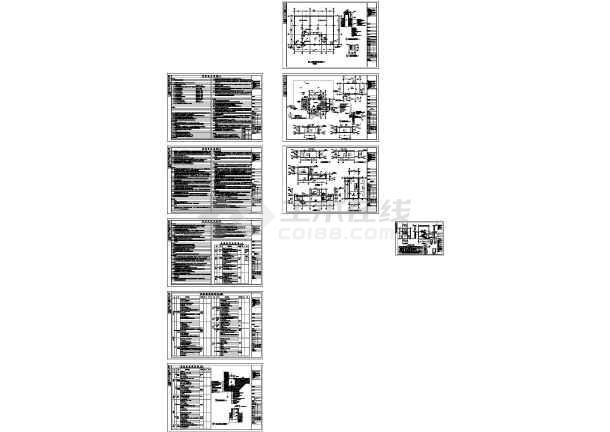 工业厂房消防水池泵房施工cad图纸(含建筑结构水电暖)-图一