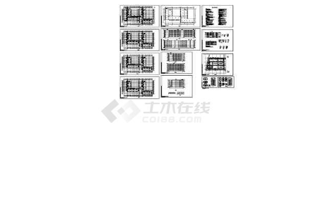 6层9628平米电子厂砖混宿舍楼建筑施工CAD图纸-图一