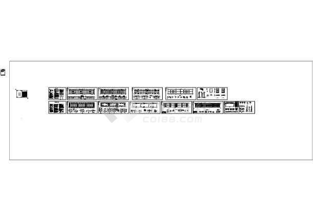 单层排架结构仓库结构施工图(含建施、审查意见书)-图一
