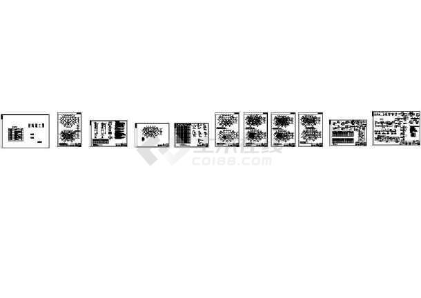 [江西]六层框架结构棚户区结构改造施工图CAD图-图一