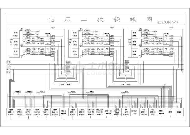 电力工程500kV变电站全套电气施工图纸878张(完整一二次系统图)-图二