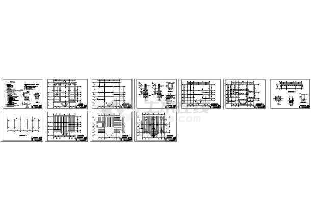 实木北美式别墅工程结构设计施工图-图一