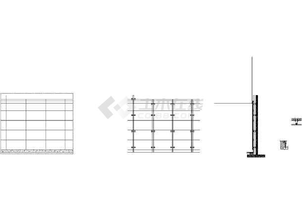 墙体干挂铝板详细cad节点详图-图一