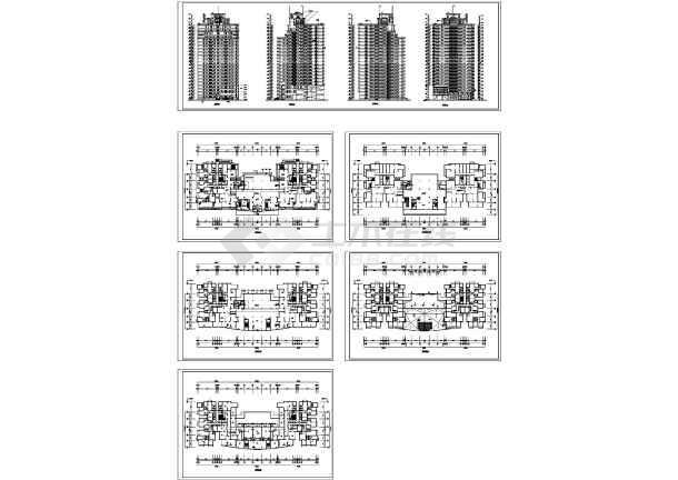 北京高层商住楼建筑图纸-图一