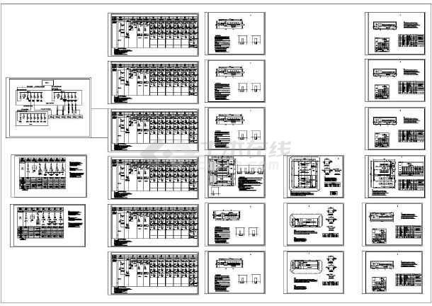 某化工厂10KV供电系统设计cad全套电气施工图纸(大院设计,24张图)-图一