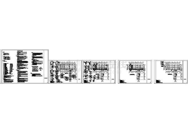 某地教学楼结构加固CAD施工图纸-图一