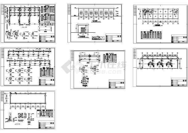 某水电站厂房设计cad全套结构施工图(含建筑设计)-图一