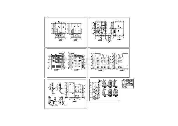 私人住宅建筑施工图,共六张图纸-图一