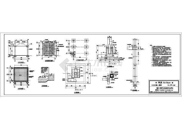 木廊架CAD施工图(共一张图纸)-图一