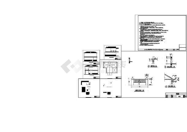 低成本小型二层别墅建筑施工CAD图-图一