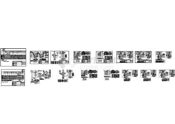 低压成套配电柜电气原理CAD图样(共16张图纸)-图一