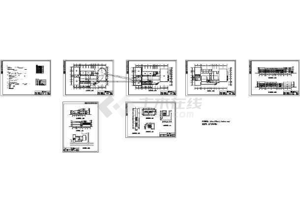 某高校2层3985平米学生活动中心建筑设计施工图【CAD】-图一
