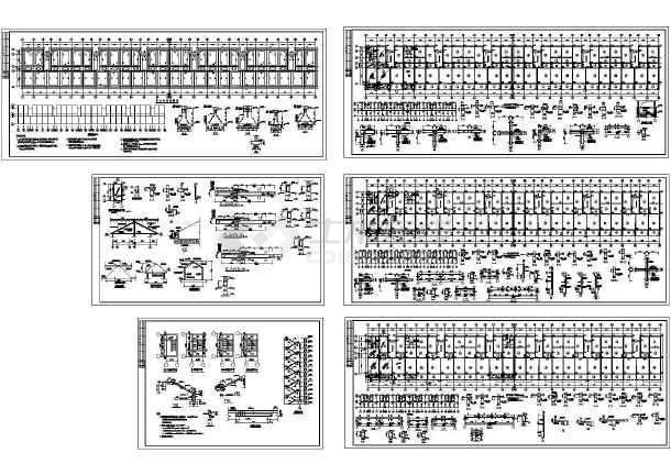 长93.9米 宽12米 6层框架住宅楼结构施工图-图一