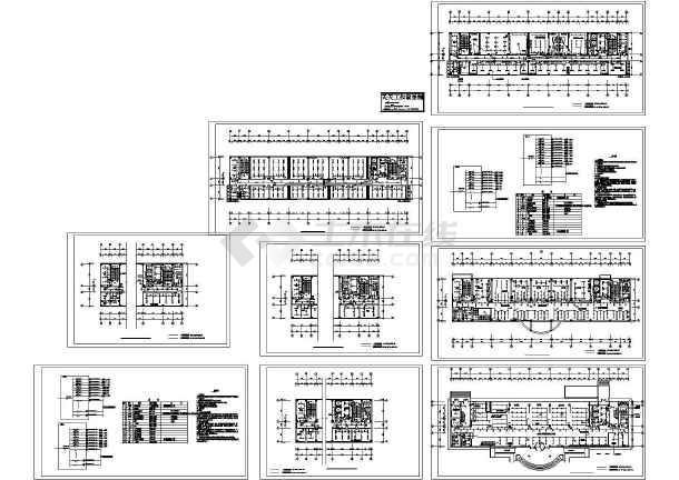某 通讯综合楼局部装修工程配套电气照明设计CAD图纸-图一