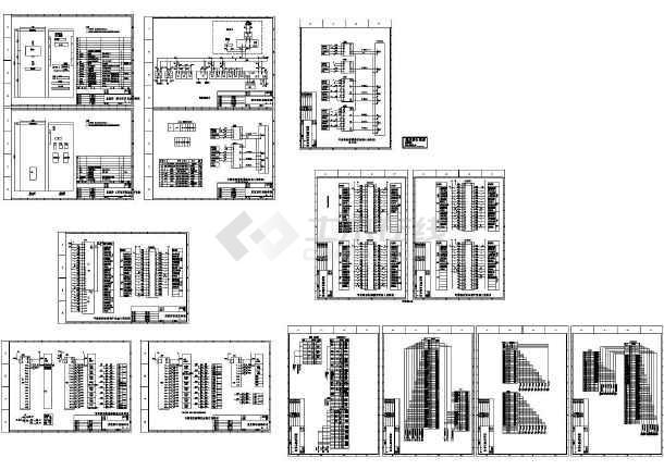 某配电自动化工程监控屏原理CAD图纸-图一