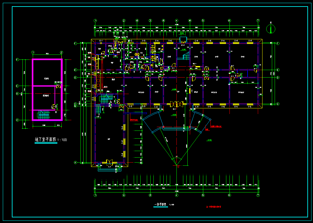 某5000平方米五层办公楼建筑施工图(共16张图纸,大院设计)图片2