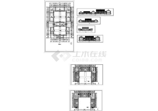 仿明清官式建筑(含说明、平面图、立面图、详图)-图一