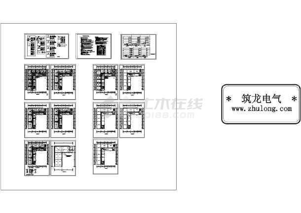 1279平方米某五层办公楼电气施工图-图一