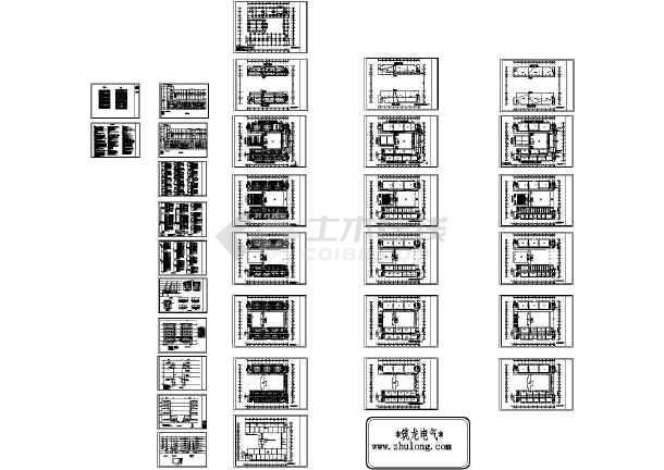 扬州某高等学校五层教学楼完整电气施工CAD图纸-图一