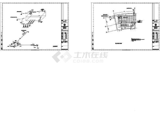 盐城某图书馆给排水施工CAD图纸(审图修改版)-图二
