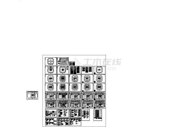 14684㎡经贸中心高层办公楼全套电气施工图纸-图一