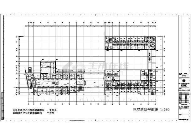 上海交通银行业务处理三号楼及后勤服务给排水施工CAD图纸-图二