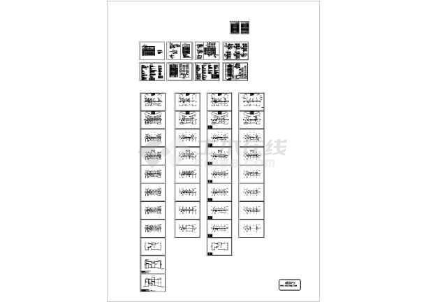 5280㎡二类高层办公楼全套电气施工图纸-图一