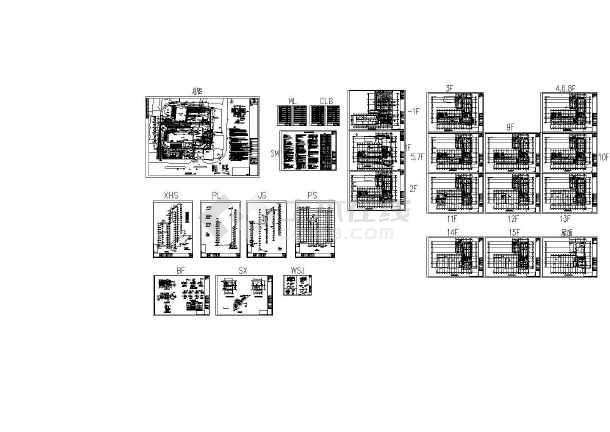 【湖北】高层办公楼给排水施工图(喷淋系统)-图一