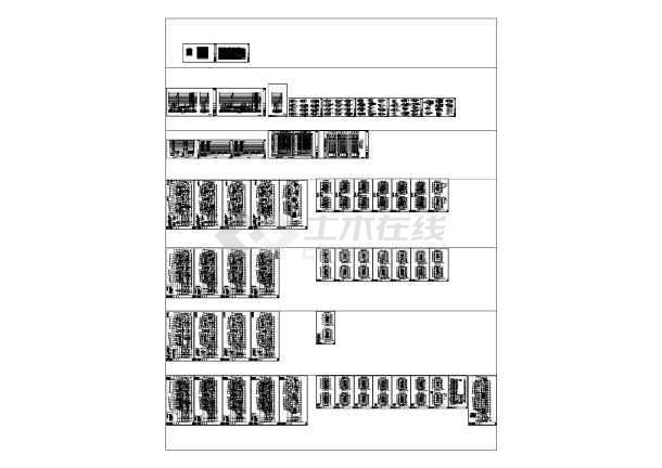 江苏省某地高层办公楼电气施工全套CAD图纸-图一