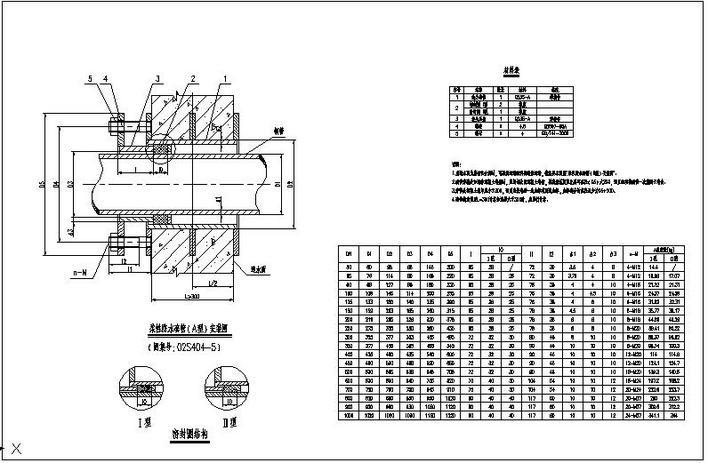 柔性防水套管安装_[防水套管]柔性防水套管(A型)安装图 - 土木在线