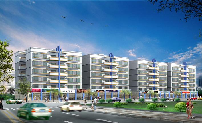 多层住宅施工图加效果图加3D模型加总平面-图1