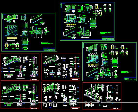 各种楼梯构件、配件做法详图-图一