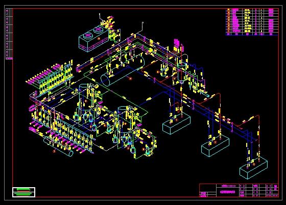 机房制冷系统透视图-图1