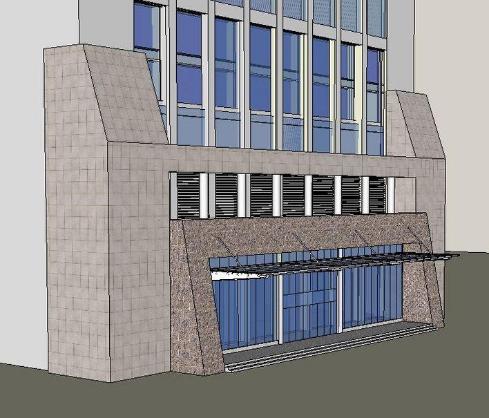 入口门头设计(sketchup模型)-图1