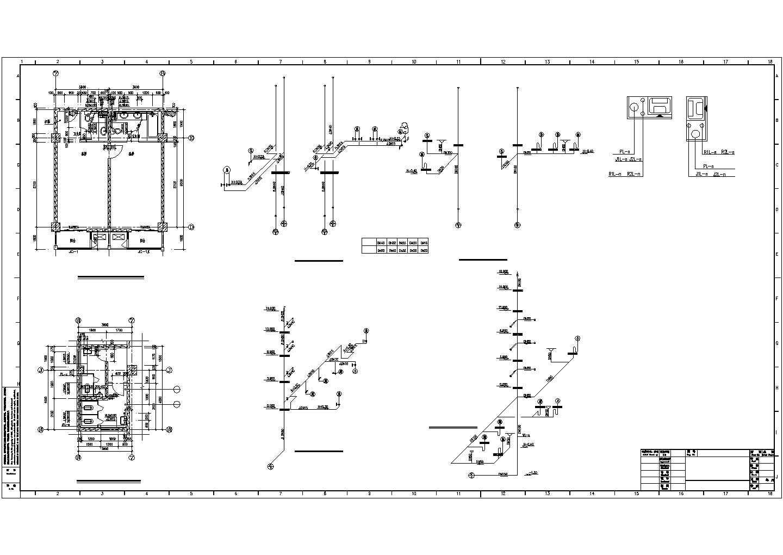 某职工公寓楼卫生间大样图设计图纸图片3